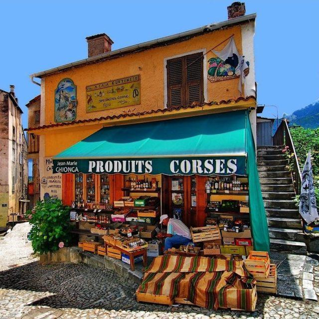 Corte Corsica Frankrijk winkeltje A Casa Curtinese