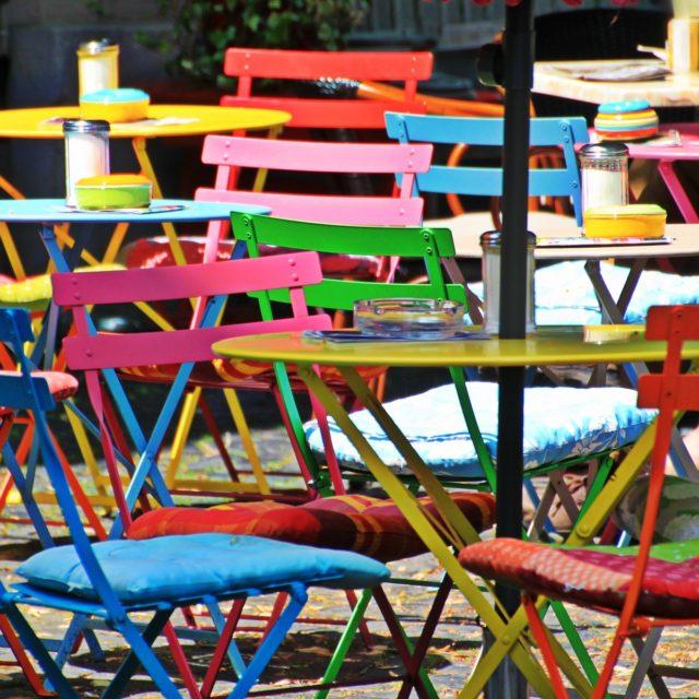 Corsica terras bistro stoelen kleurig