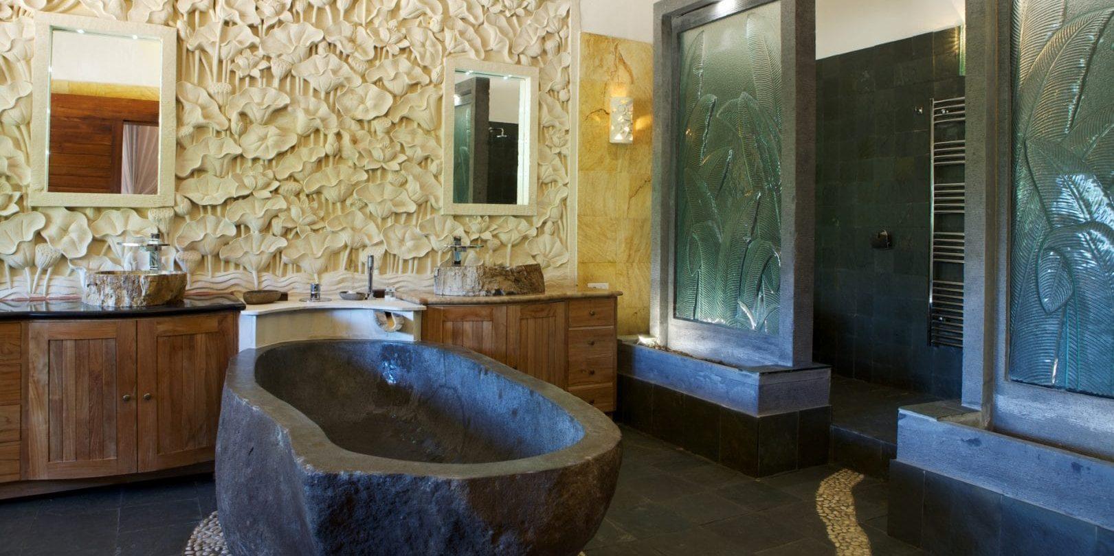 Ferme Auberge Domaine de Piscia Figari Corsica Frankrijk Les Splendides badkamer