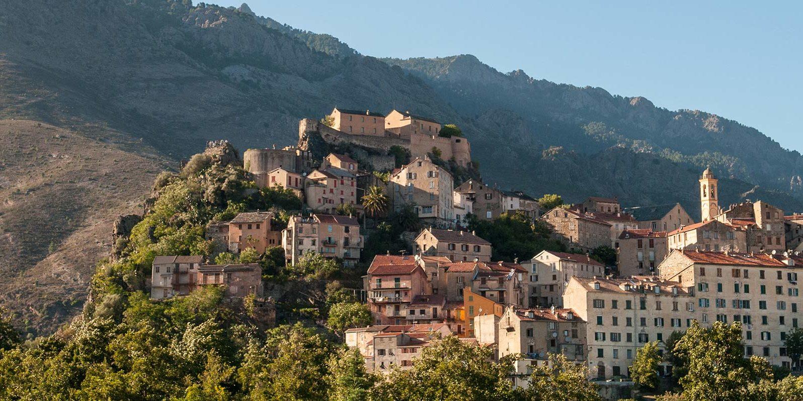 Corte Corsica Frankrijk universiteit Restonica-vallei oude-hoofdstad citadel