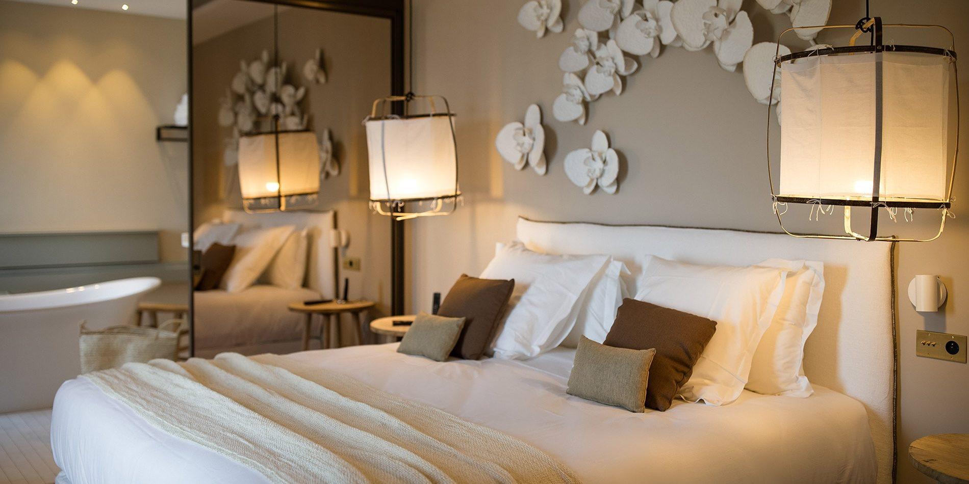 Hotel Misincu Cagnano Cap Corse Corsica Frankrijk kamer bad kamer en suite