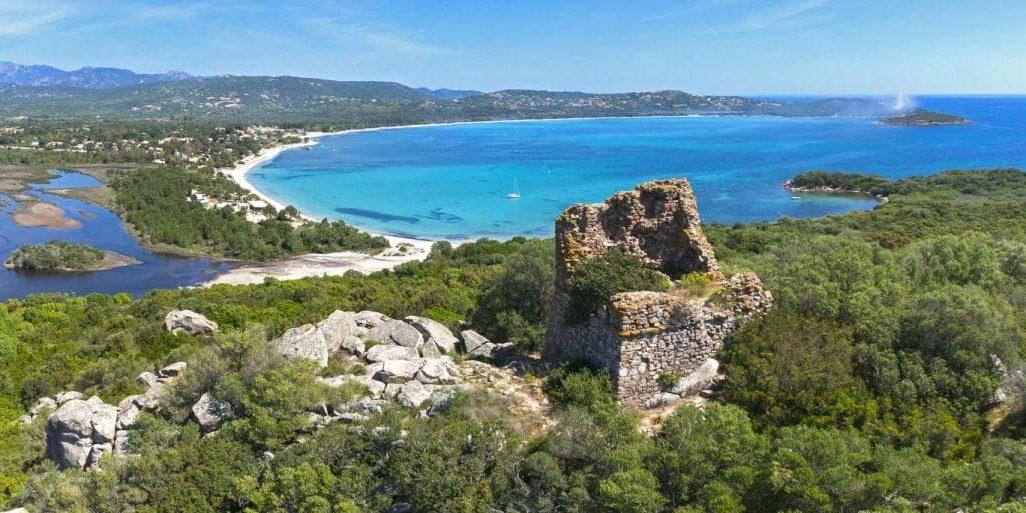 Lecci Baai van Saint-Cyprien Corsica Frankrijk