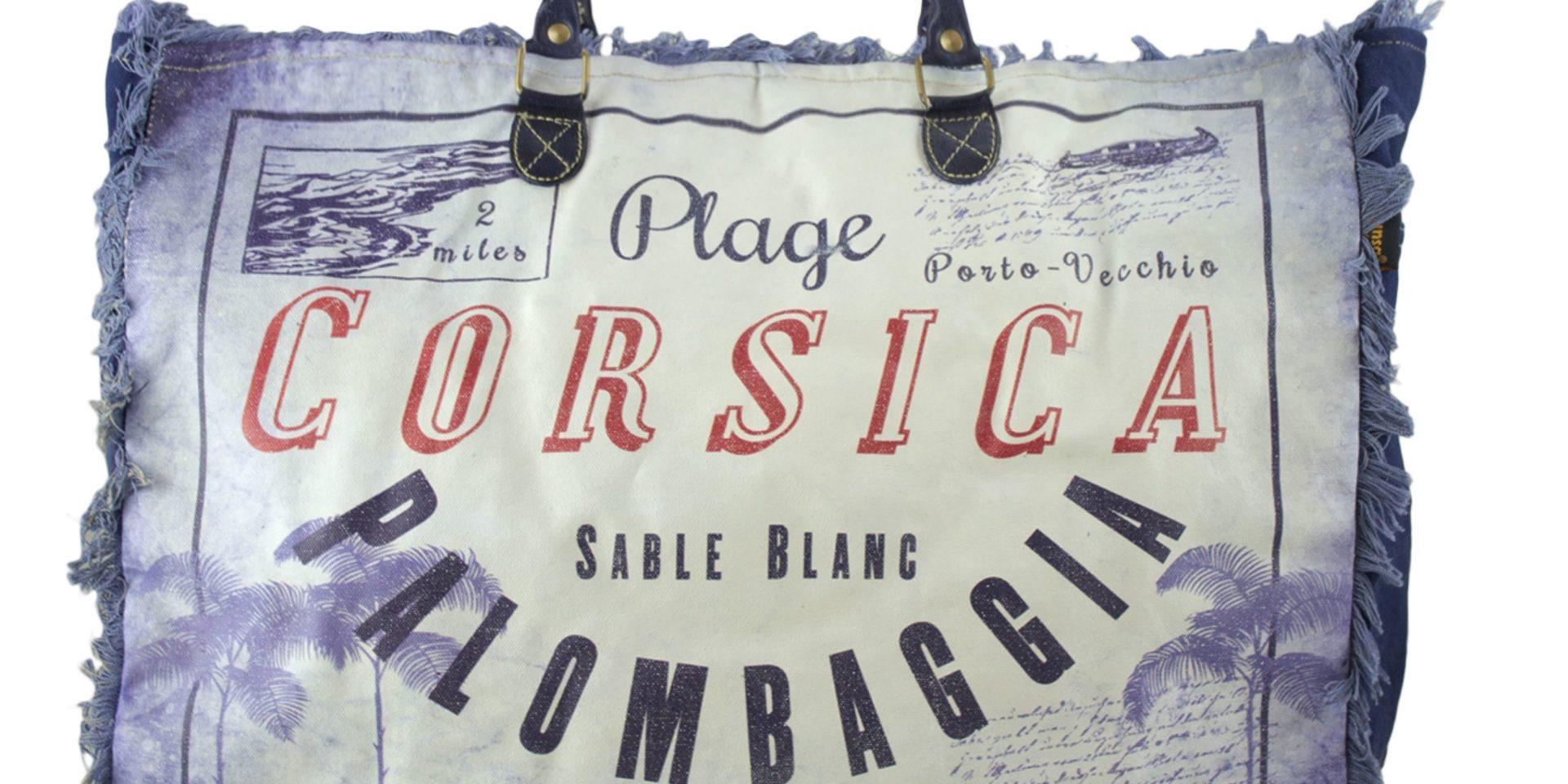 Corsica Frankrijk Palombaggia shopper strandtas