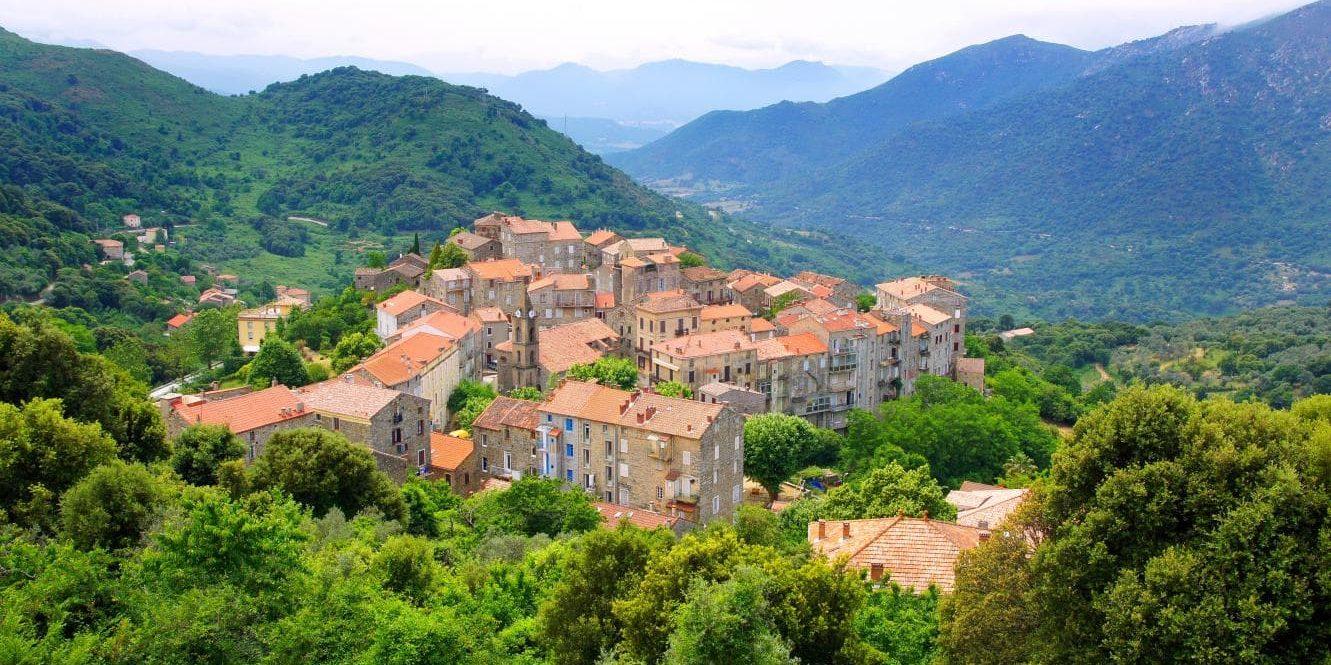 Levie Alta Rocca Corsica Frankrijk stad achterland-Sartène