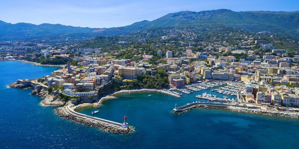 Bastia Corsica Frankrijk havenstad luchtfoto