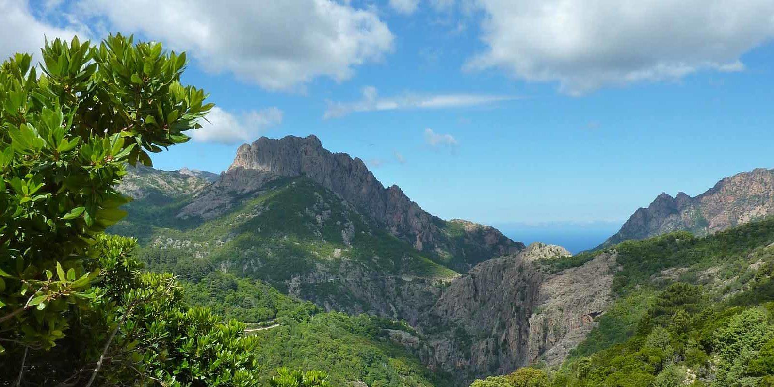 Bavella Massief Corsica Frankrijk Aiguilles de Bavella vallei bergen