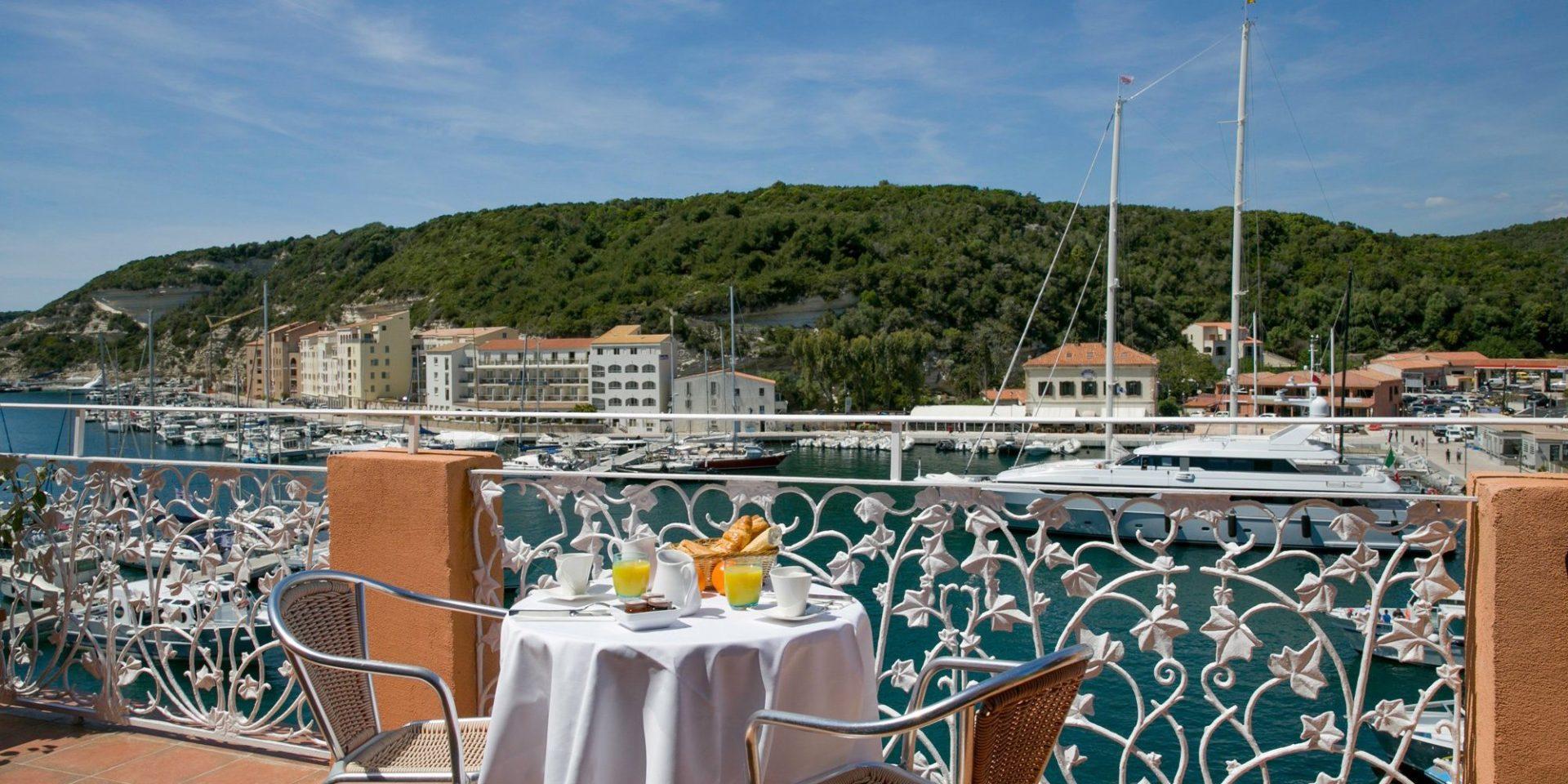 Best Western Hotel du Roy d'Aragon Bonifacio Corsica terras balkon kamer Privilege Privilège