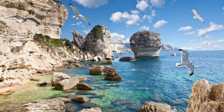 Best Western Hotel du Roy d'Aragon Bonifacio Corsica Frankrijk falaises kliffen grain de sable zandkorrel zee meeuwen