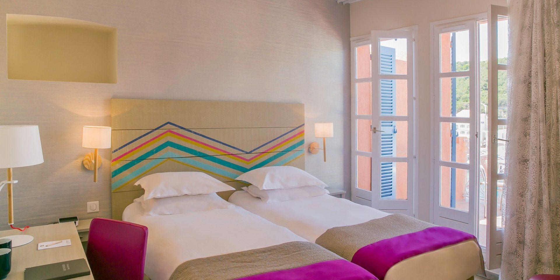 Best Western Hotel du Roy d'Aragon Bonifacio Corsica Frankrijk kamer-Privilège-terras-2-losse-bedden