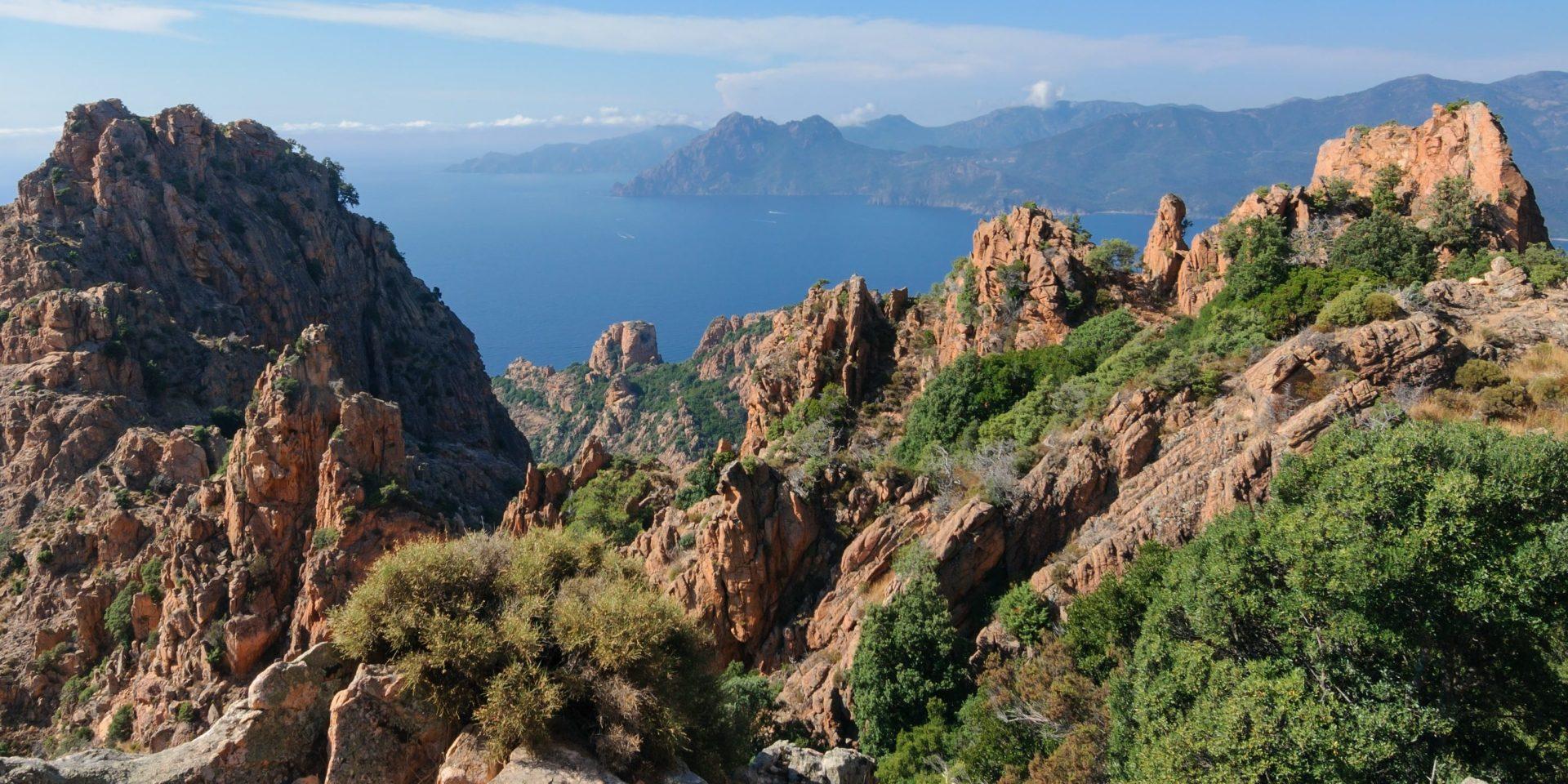 Calanques de Piana Corsica Frankrijk baai zee maquis