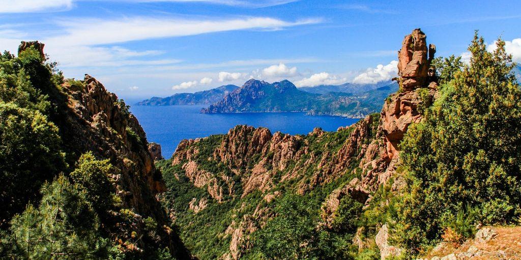 Calanques de Piana Corsica Frankrijk rotsformatie calanches zee