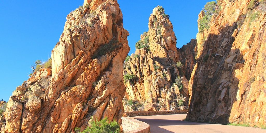 Calanques de Piana Corsica Frankrijk route road trip rondreis autovakantie