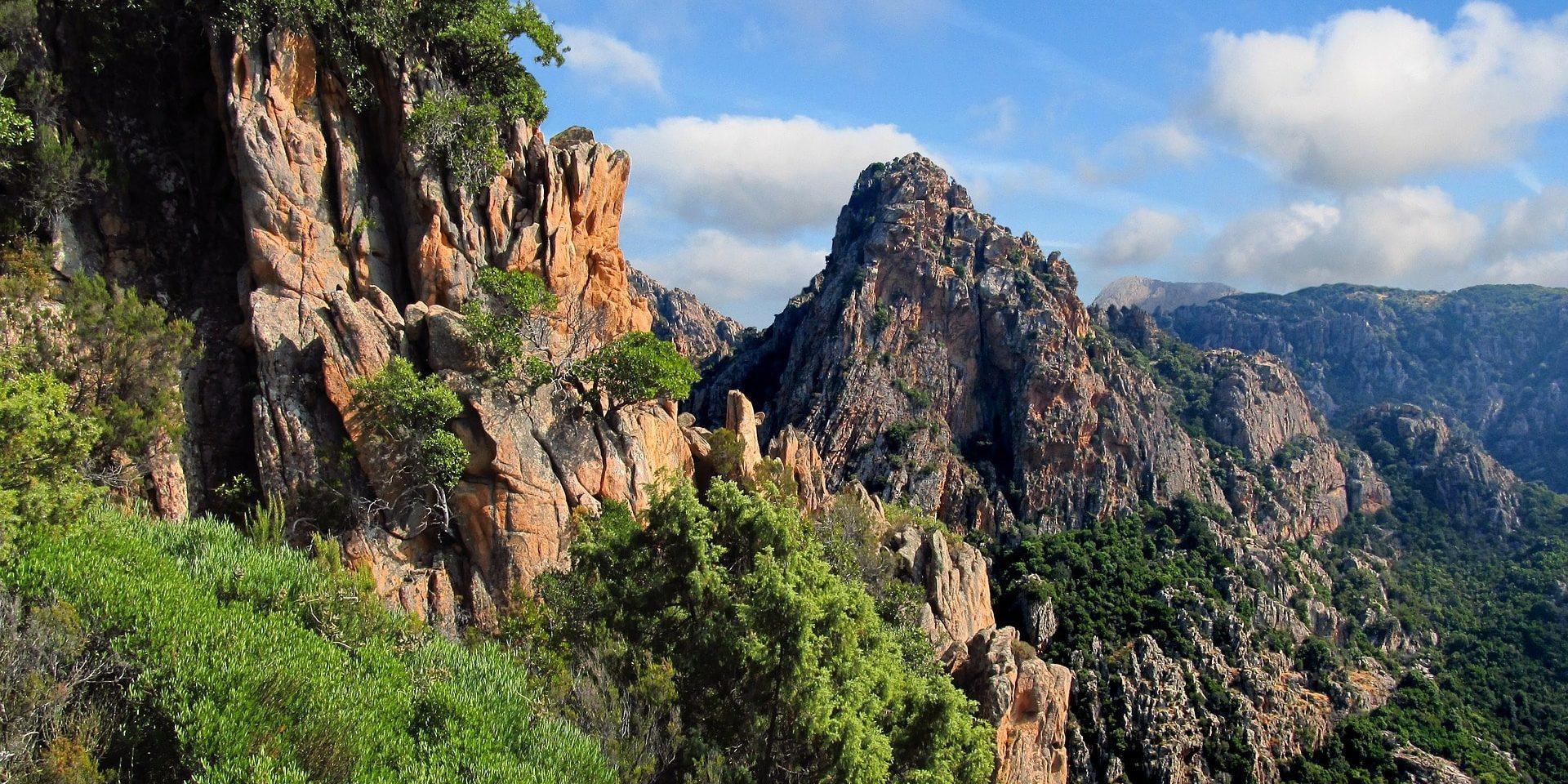 Calanques de Piana Corsica Frankrijk calanches bergen rotsen maquis bomen