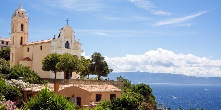 Cargèse Corsica Frankrijk kerk Grieks-orthodox zee