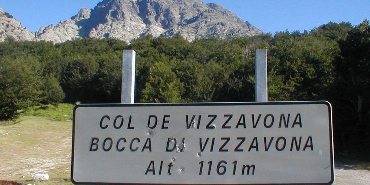 Col de Vizzavona Corsica Frankrijk hiking trekking wandelen verkeersbord