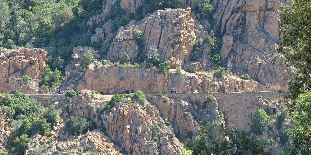 Calanques de Piana Corsica Frankrijk road trip rondreis roadtrip motor motoren auto
