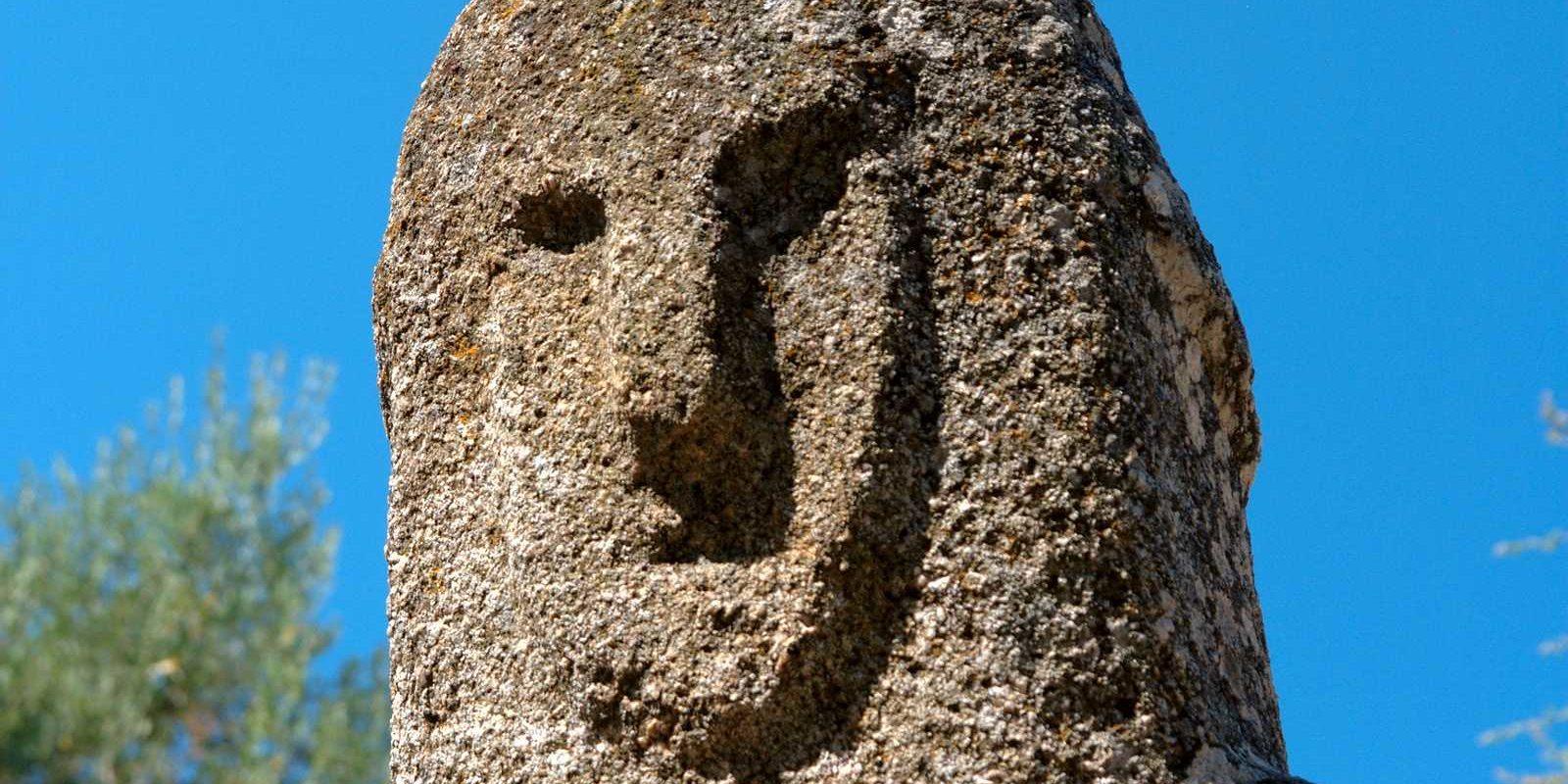 Filitosa Corsica Frankrijk menhir prehistorisch detail