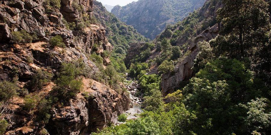 Gorges de la Spelunca Corsica Frankrijk kloof outdoor wandelen rivier