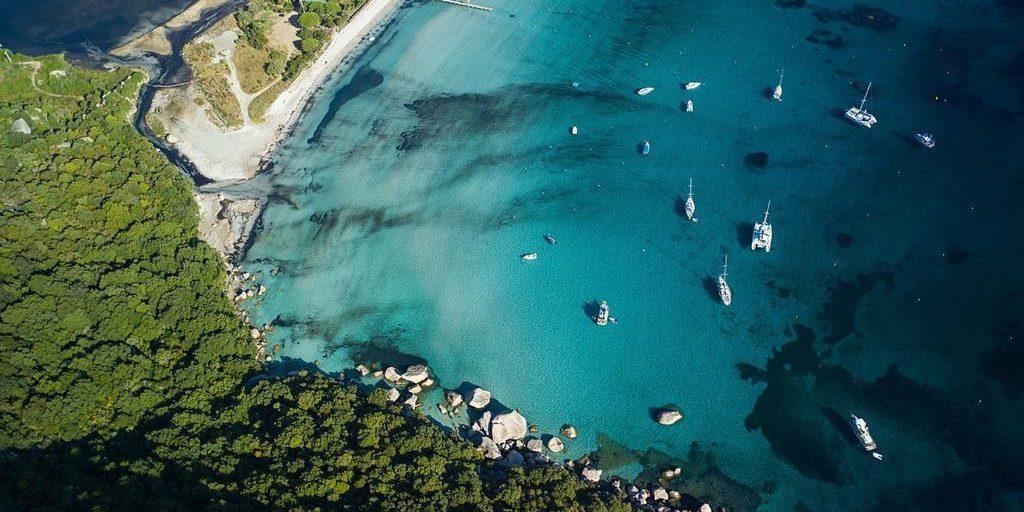 Hotel Pavillons Résidence Moby Dick Porto Vecchio Corsica Frankrijk luchtfoto Plage de Santa
