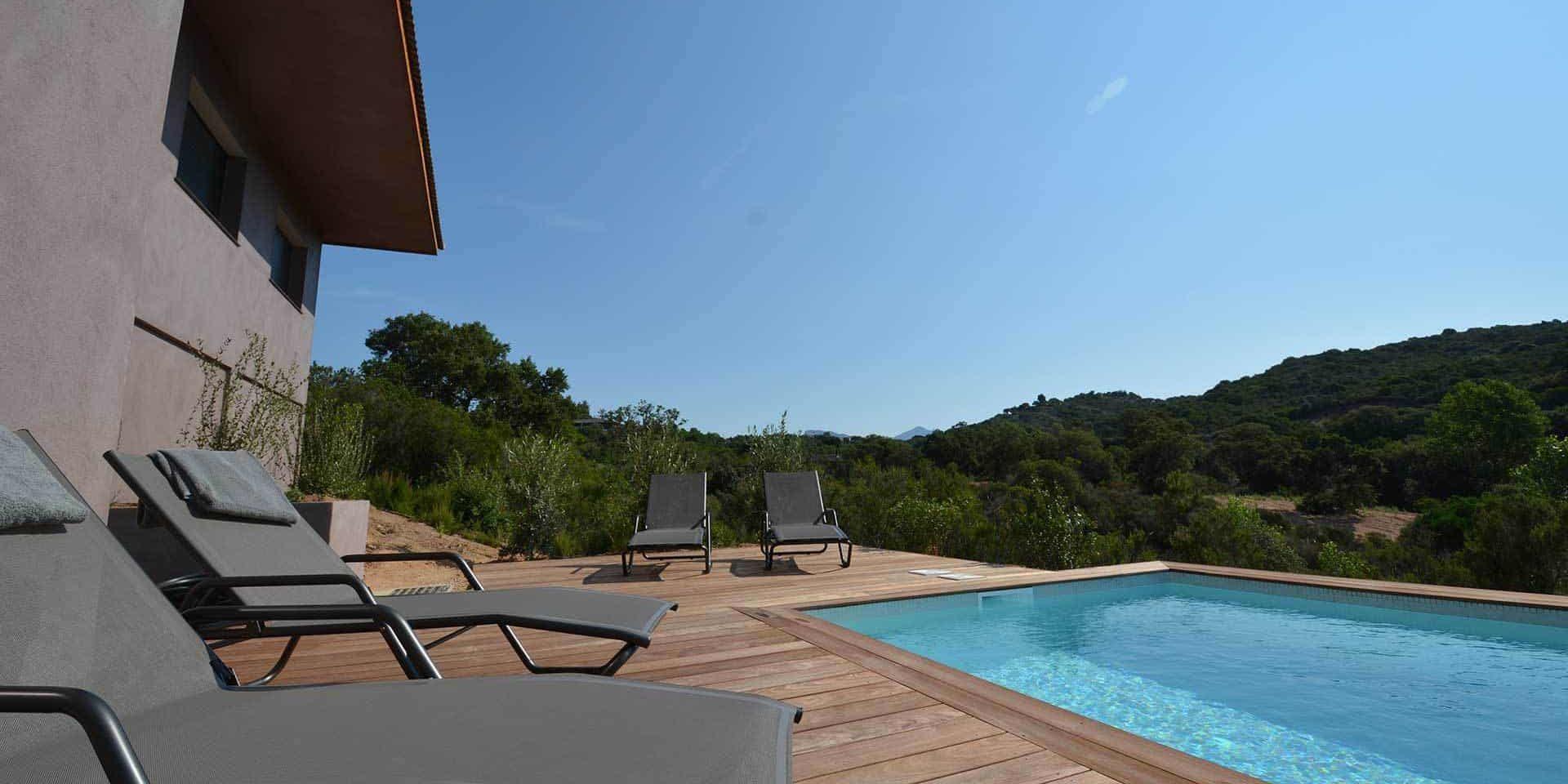 Les Villas de Lorello Porticcio Corsica Frankrijk villa La Bruyère terras zwembad