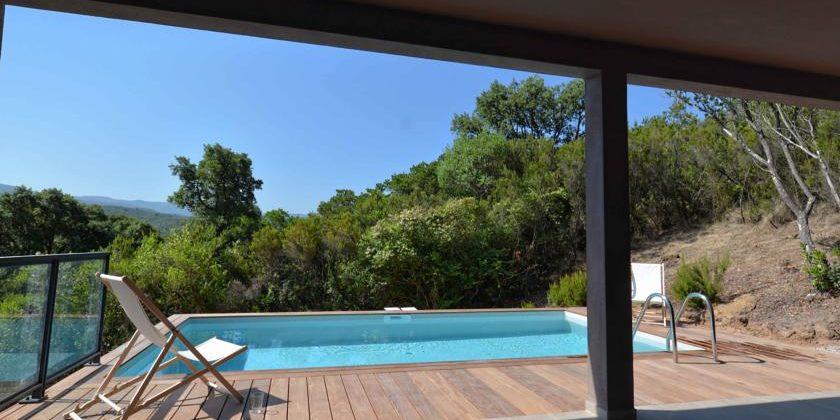 Les Villas de Lorello Porticcio Corsica Frankrijk zwembad terras