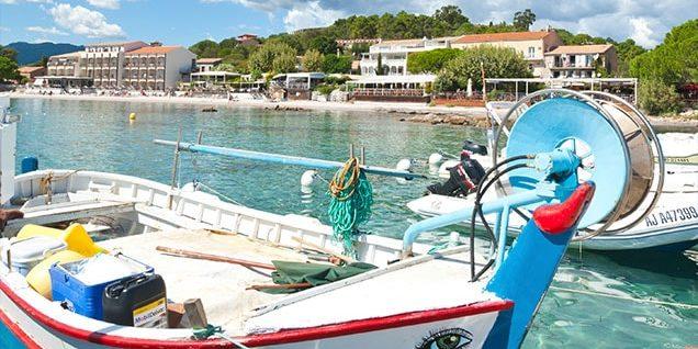 Pinarello Corsica Frankrijk haven strand baai-van-Pinarello