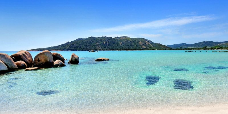 Plage de Santa Giulia Porto-Vecchio Corsica een-van-de-mooiste-stranden-van-Corsica