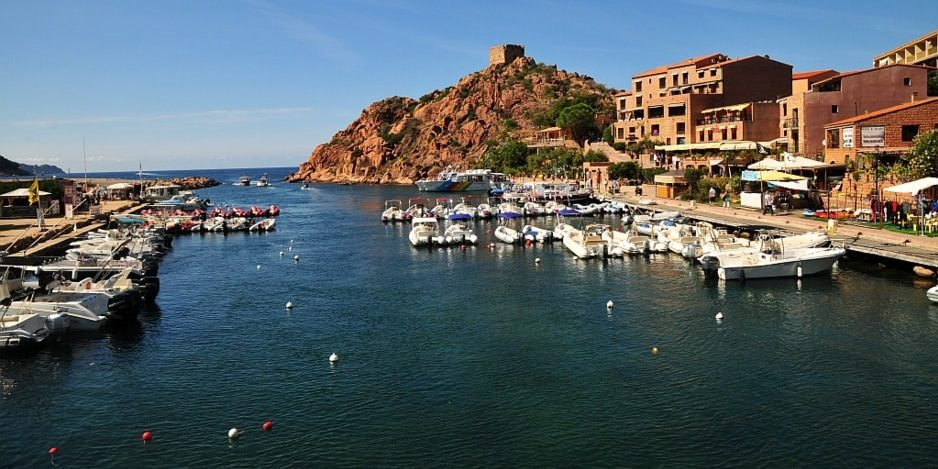 Porto Corsica Frankrijk haven kade promenade