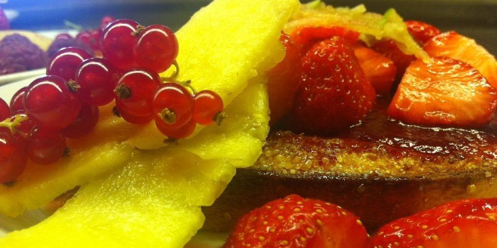 Sud'Hotel Bastia Corsica Frankrijk eten fruit moestuin biologisch