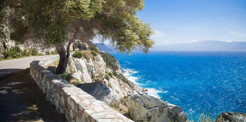 Corsica route kust kustweg road trip roadtrip rondreis autovakantie
