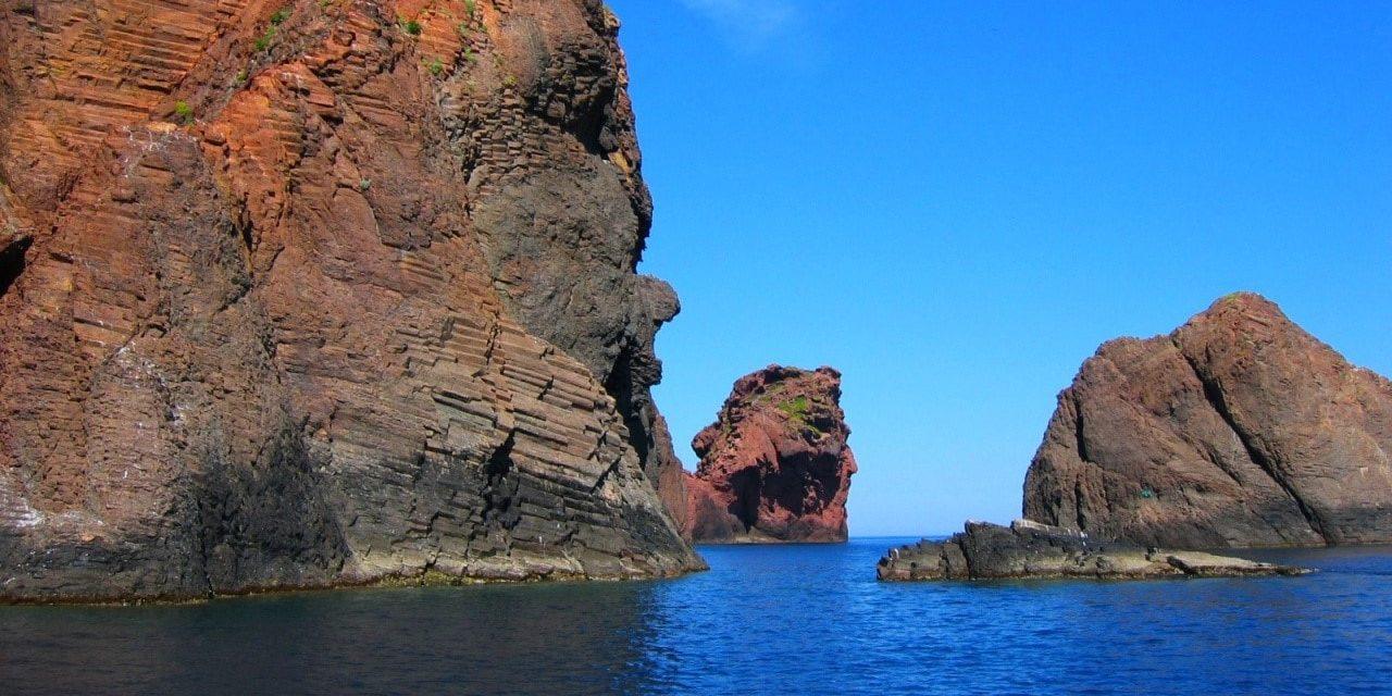 Scandola Corsica Frankrijk natuurreservaat UNESCO rode rotsen
