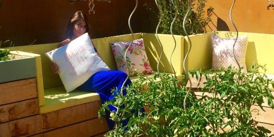 Sud'Hotel Bastia Corsica Frankrijk dakterras daktuin moestuin detail