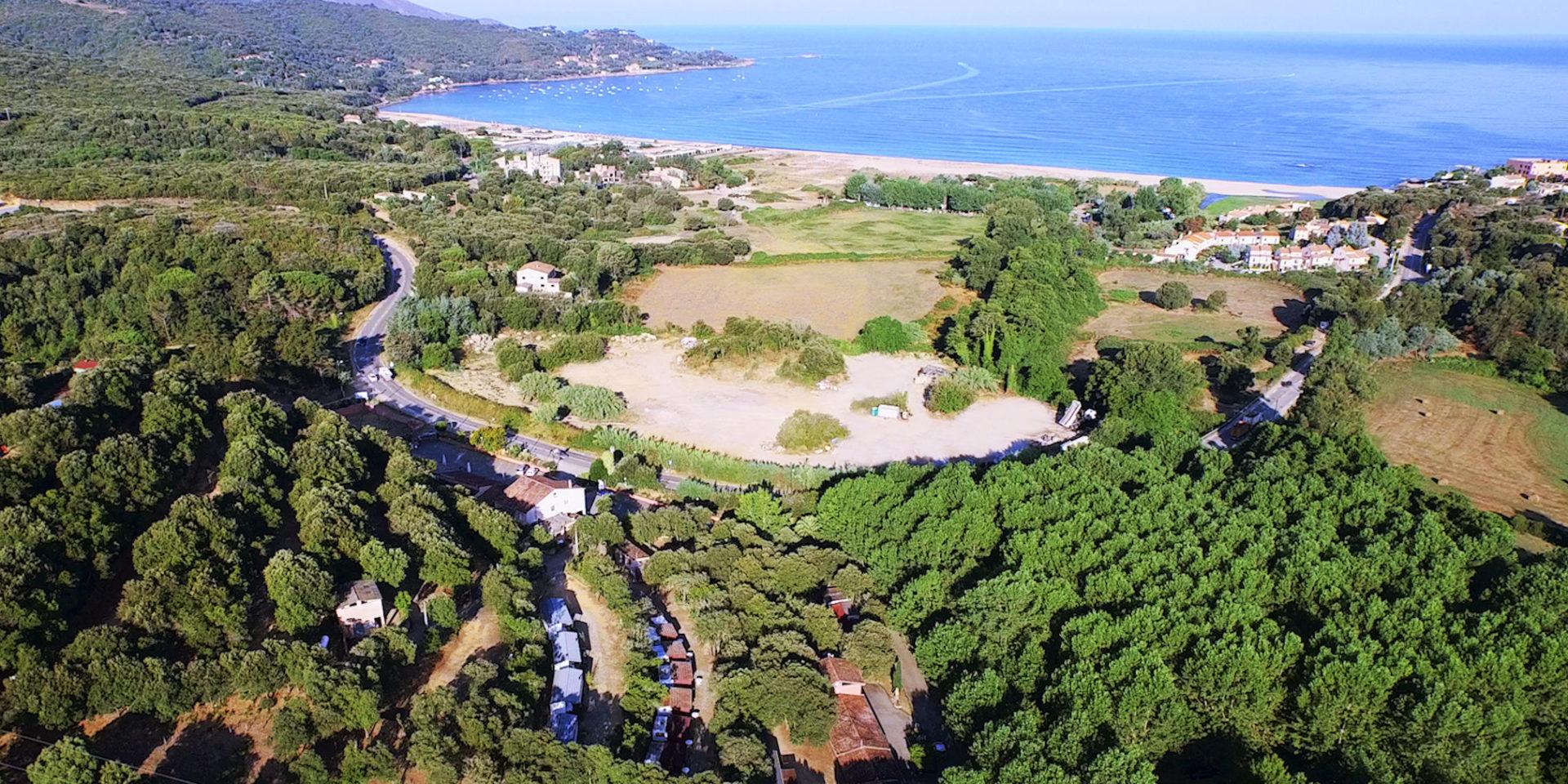Calcatoggio Corsica Frankrijk strand zee bossen weilanden