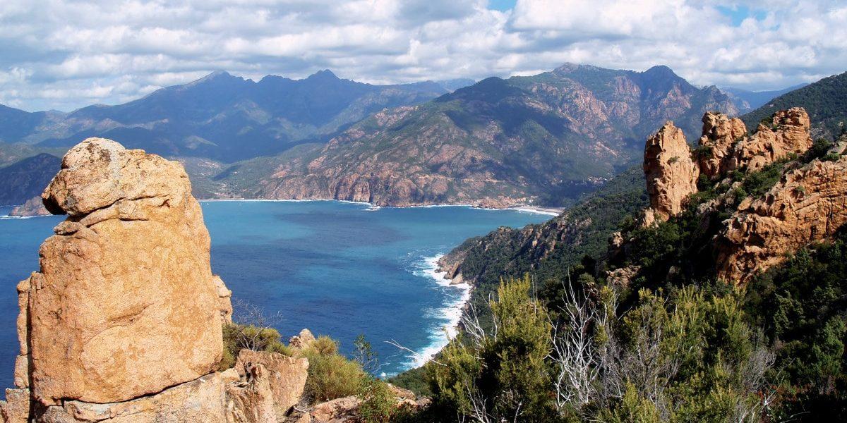 Hotel Capo Rosso Piana Calanques-de-Piana Corsica Frankrijk rotsen zee maquis bergen