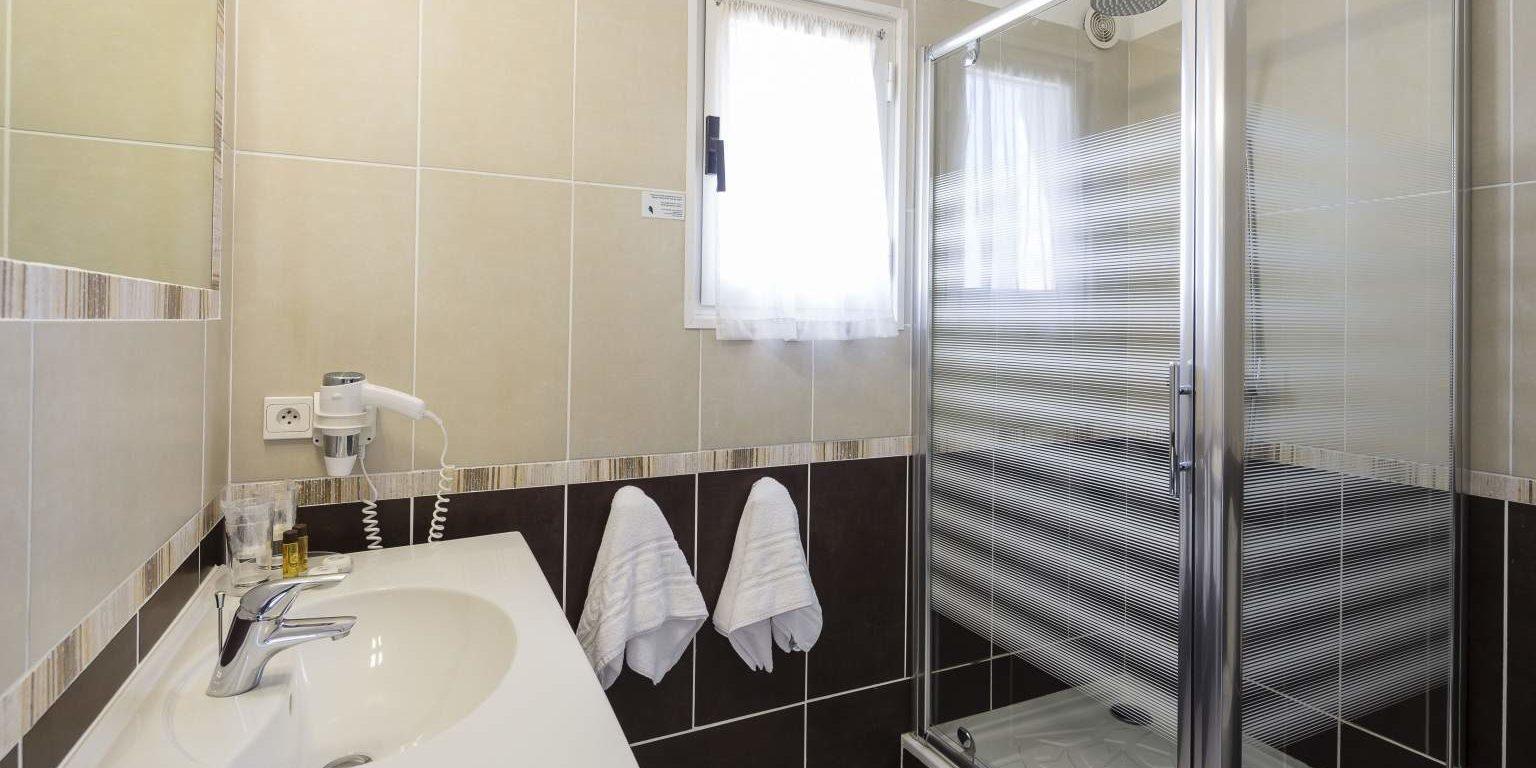 Hotel La Lagune Lido de la Marana Lucciana Corsica Frankrijk badkamer