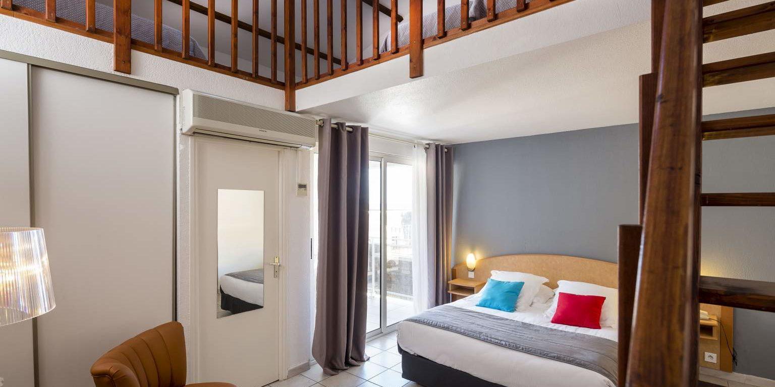 Hotel La Lagune Lido de la Marana Lucciana Corsica Frankrijk familiekamer balkon