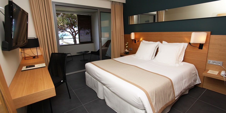 Hotel Moby Dick Plage de Santa Giulia Corsica Frankrijk slaapkamer zeezijde