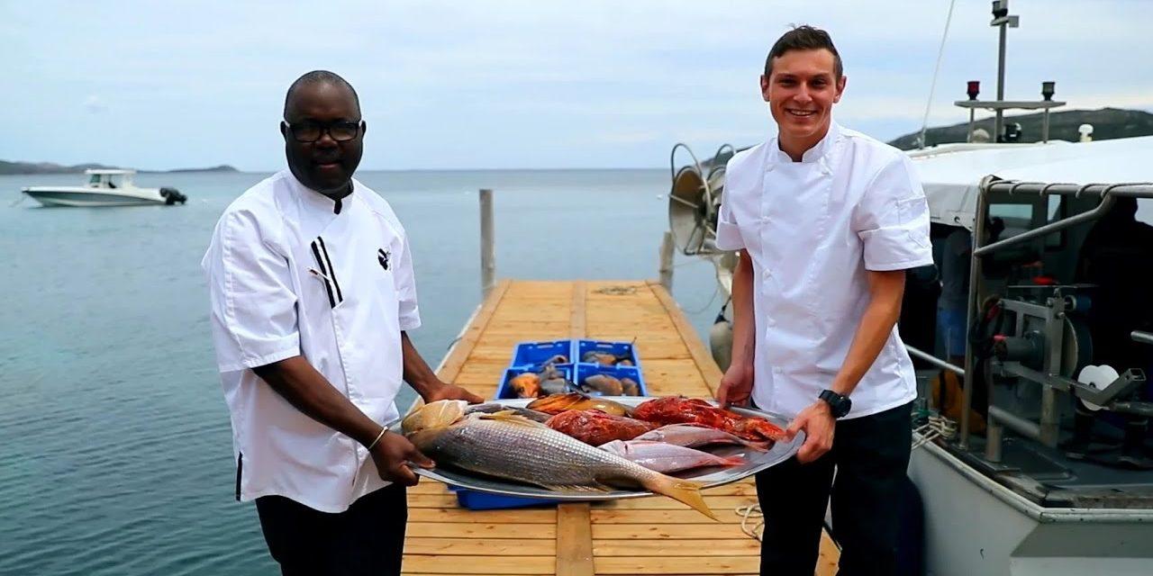 Hotel U Capu Biancu Bonifacio Corsica Frankrijk aanlegsteiger jacht chef-kok vis
