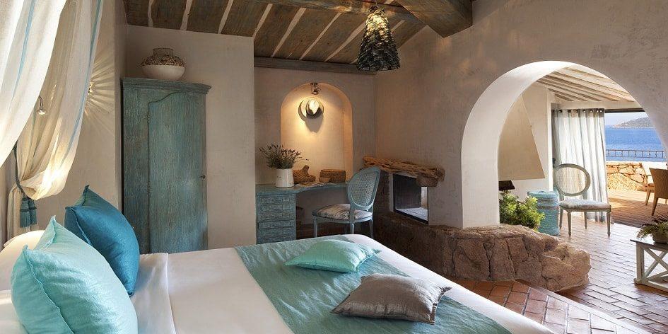 Hotel U Capu Biancu Bonifacio Corsica Frankrijk kamer suite terras zeezicht turquoise