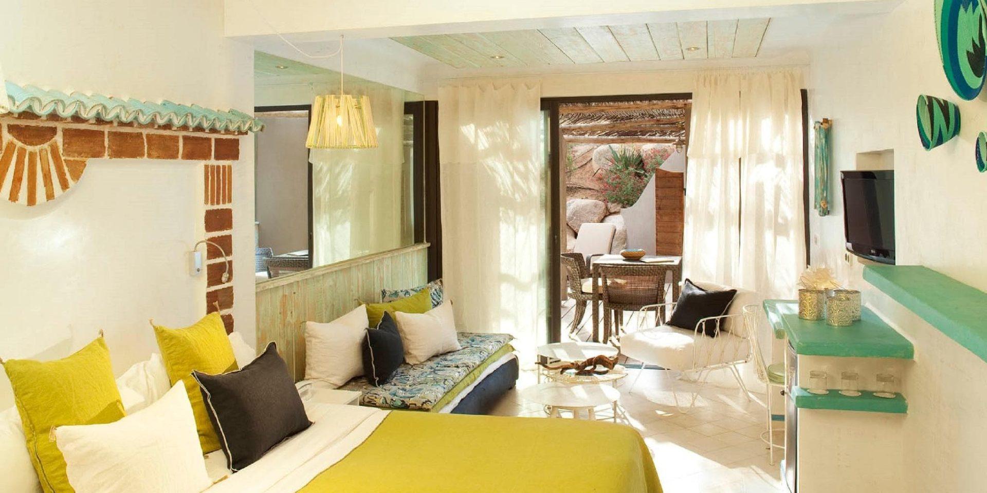 Hotel U Capu Biancu Bonifacio Corsica Frankrijk kamer superieure vue maquis