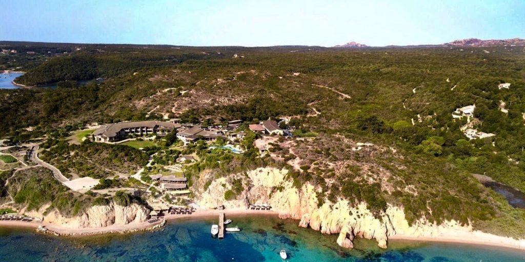 Hotel U Capu Biancu Bonifacio Corsica Frankrijk luchtfoto