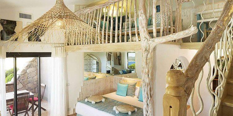 Hotel U Capu Biancu Bonifacio Corsica Frankrijk suite wrakhout vide mezzanine