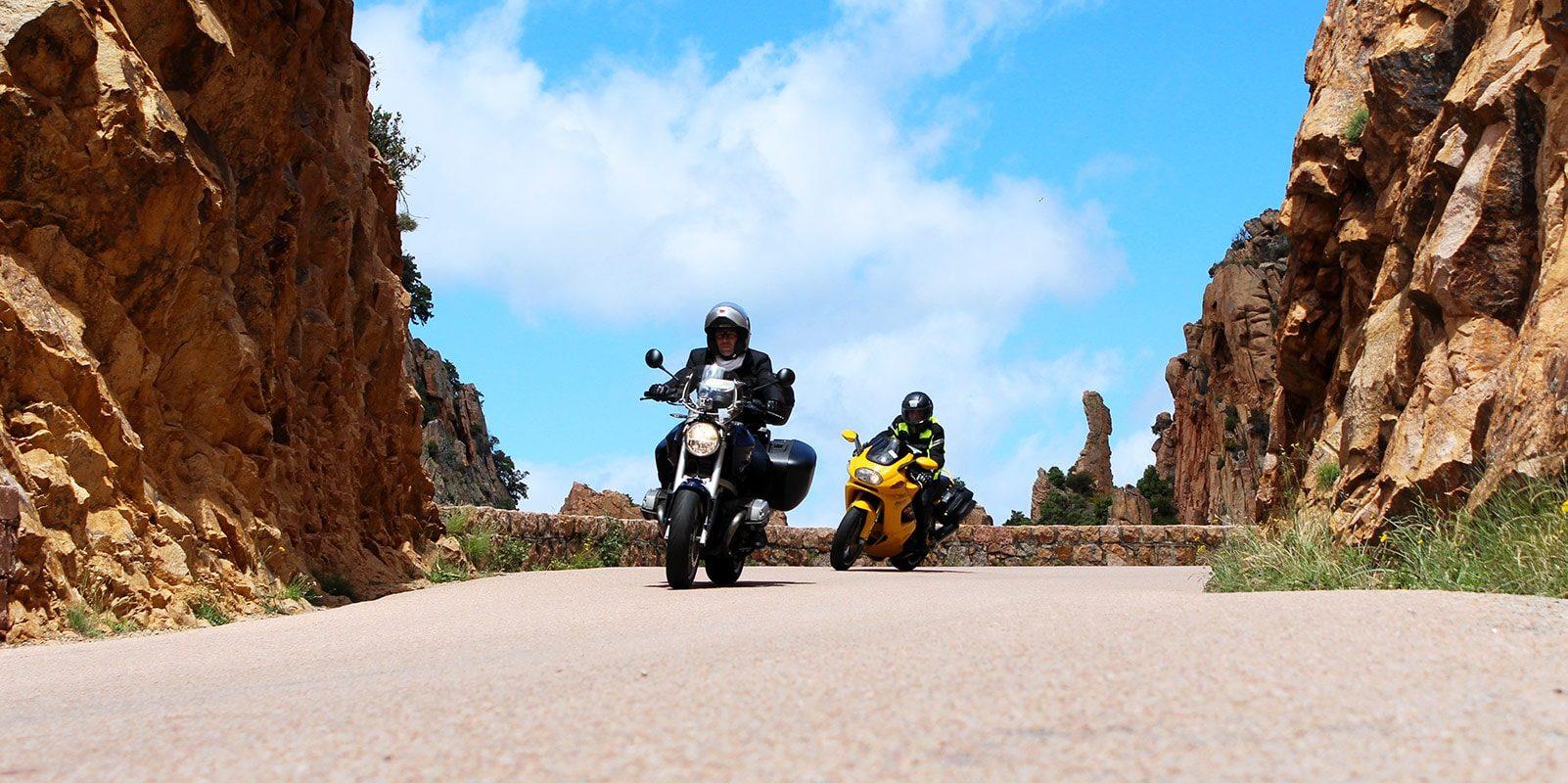 Motorrondreis Road Trip Motor Motor Corsica Calanques de Piana Frankrijk