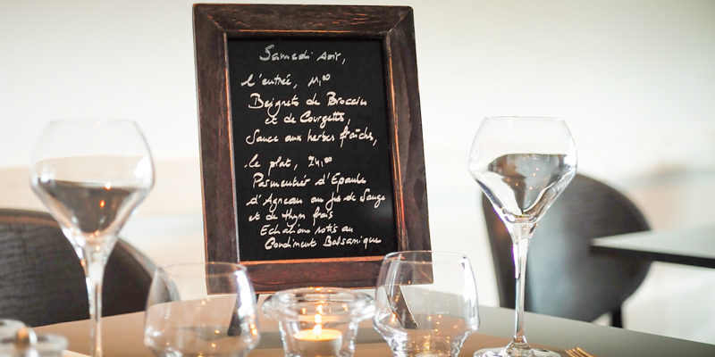 Hotel A Piattatella Monticello Balagne Corsica Frankrijk menukaart restaurant