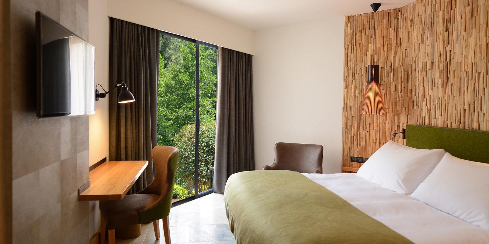 Hotel Dominique Colonna Corte Restonica binnenland Corsica Frankrijk tweepersoonskamer tuinzijde