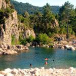 Solenzara-rivier Bavella-Massief Corsica Frankrijk bergen zwemmen toerisme